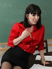 Busty teacher adventures