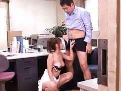 Kaera Uehara semi nude teacher enjoys assistants hard cock