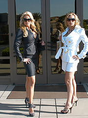 Sex Office, Kelly and Tanya subject their captured cock to multiple orgasms and smothering by tits.