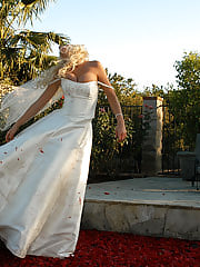 Tanya gets recessitated by pussy licking and gets enough strength to tear a cock up after falling in the pool in her wedding dress.