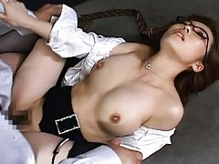 Nagomi Momono has tits squeezed as she fucks another teacher