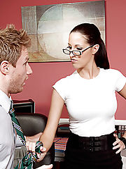 Kortney Kane enjoys her lunch break at work by having her co-worker lick her pussy.