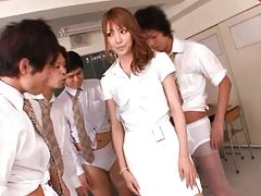 Misa Kurita is a lovely Asian doll who is a little of an exhibiti