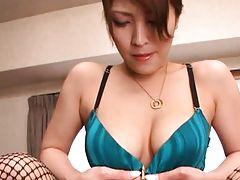 Kokomi Sakura removes silk panties and exposes her pussy