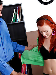 Professor Billy Glide comes in and gives Dani Jensen a prep talk about how the guys like it!