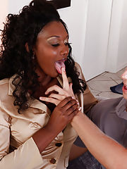 Office Sex, Nyomi Banxxx gets her sweet black pussy pounded
